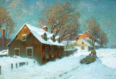 Village en hiver (1913) - Marc Aurèle Suzor-Côté