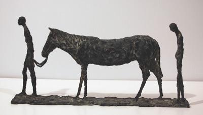 Sylvia LEFKOVITZ - Man, horse & woman (1966)