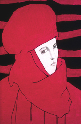 Louise SCOTT - Portrait en rouge (1985)