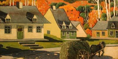 Ste-Rose en automne   -1925 - - Marc-Aurèle Fortin