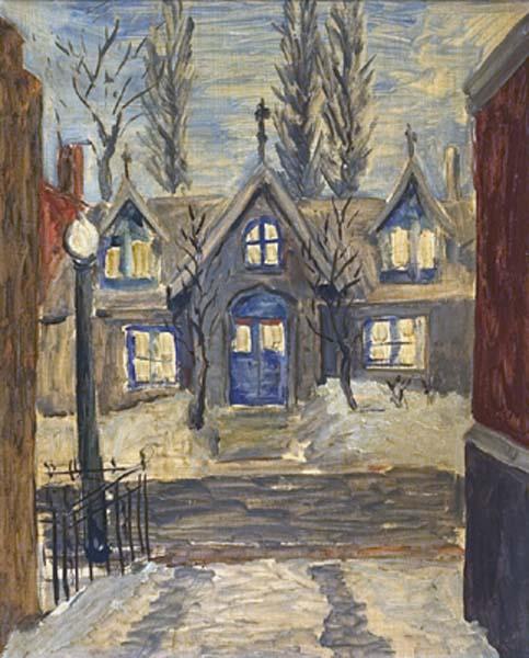 Maisons à lucarnes, rue Durocher l'hiver - Solange Legendre