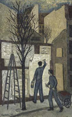 Le colleur d'affiches (1953) - Solange Legendre