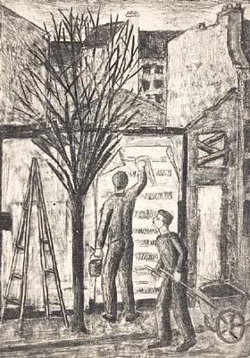 Solange LEGENDRE - Le colleur d'affiches (1953)