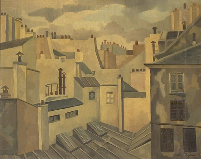 Solange LEGENDRE - Toits de Paris (1954)