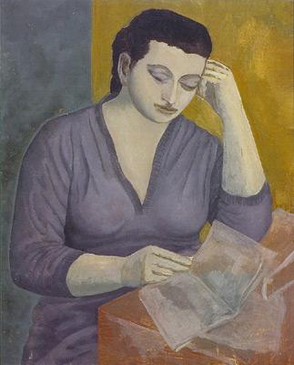 Portrait d'Hélène lisant - Solange Legendre