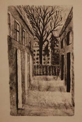 Solange LEGENDRE - La cour de l'École (1952)
