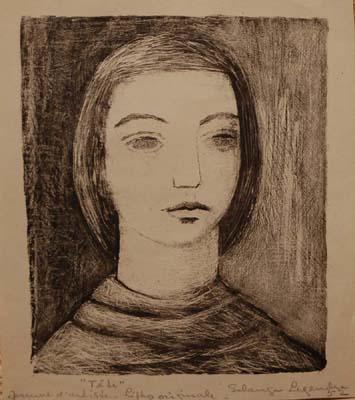 Solange LEGENDRE - Tête de femme (1952)