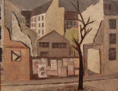Solange LEGENDRE - Paysage urbain (1953)
