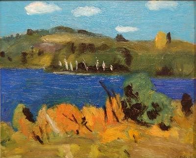 Goodridge ROBERTS - Lac bleu- St Alphonse- automne- 1941