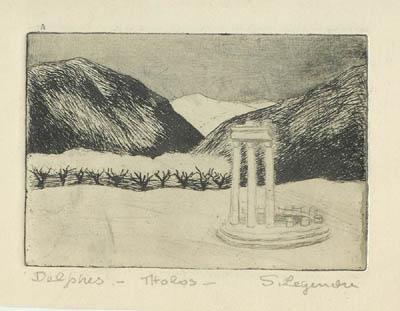 Solange LEGENDRE - Delphes- Ruine de La Tholos