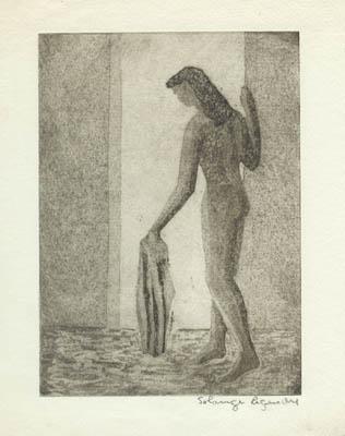 Solange LEGENDRE - Femme allant au bain