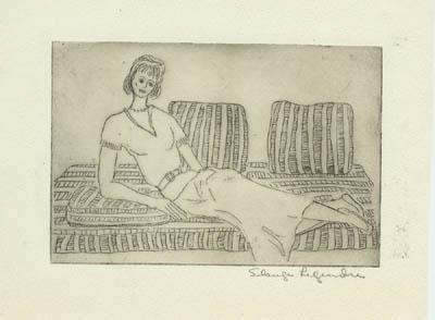 Femme au canapé - Solange Legendre