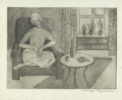 Solange LEGENDRE - Femme au fauteuil (1949)