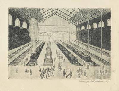 Solange LEGENDRE - Gare du Nord (1953)