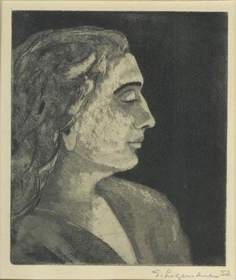 Solange LEGENDRE - Hélène de profil (1952)