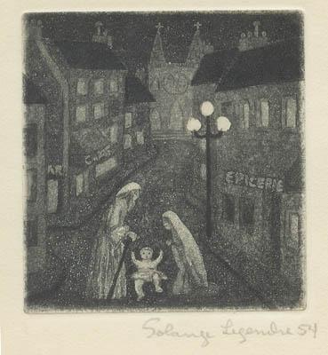 Solange LEGENDRE - La crèche (1954)