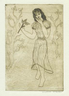 Solange LEGENDRE - La jeune fille aux feuilles