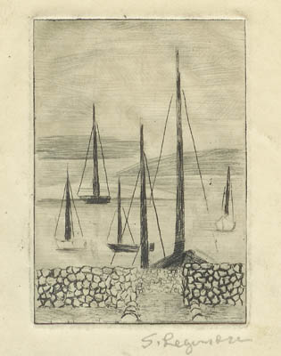 Solange LEGENDRE - Myconos- Bateaux au port