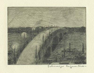Pont à l'aube - Solange Legendre