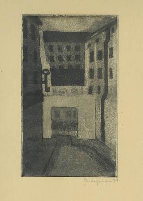 Solange LEGENDRE - Rue Le Serrurier (1954)