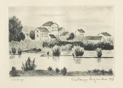 Vichy, Étang (1952/1953) - Solange Legendre