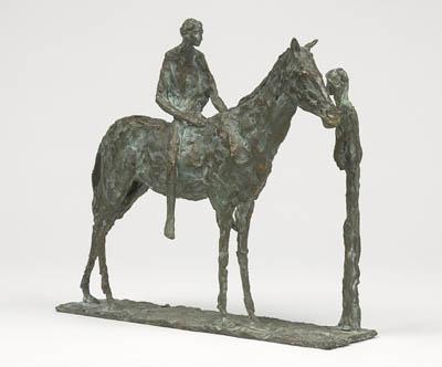 Horse rider & woman - Sylvia Lefkovitz