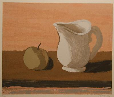 Stanley COSGROVE - Nature morte au pichet blanc
