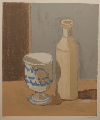 Nature morte (verre et bouteille) - Stanley Cosgrove