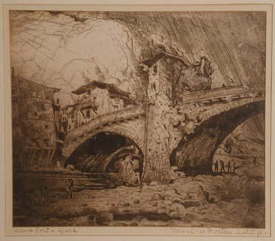 Le vieux pont du Gard - Marc-Aurèle Fortin