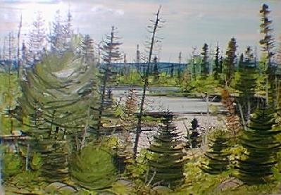 Forêt en été (1957) - Jacques de Tonnancour