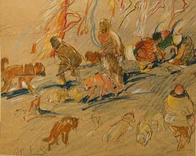 René RICHARD - Chiens et trappeurs (1945)