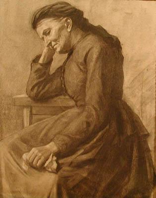 Portrait d'une femme songeuse (c. 1900) - Marc Aurèle Suzor-Côté