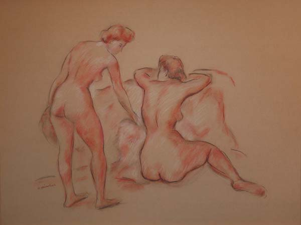Herman HEIMLICH - Two Nude Figures (c. 1948)