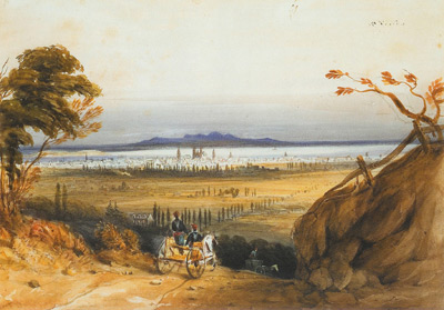 Philip John BAINBRIGGE - City of montreal from the Mountain (c. 1835)