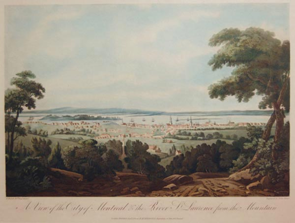 E. WALSH - A View of the City of Montreal (1811)