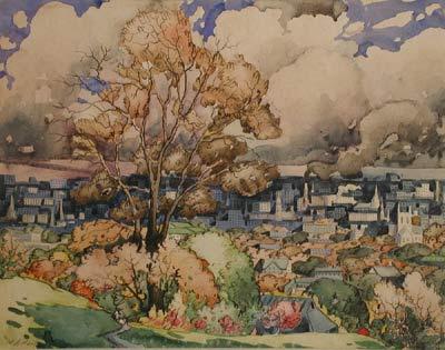 Marc-Aurèle FORTIN - Vue du Mont-Royal (c. 1927)