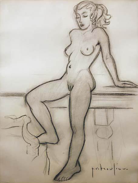 Nu debout (c. 1950) - Paul-Vanier Beaulieu