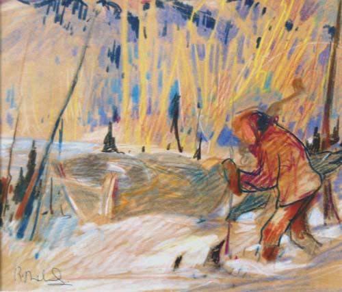 René RICHARD - Personnage dans la neige (c.1940)