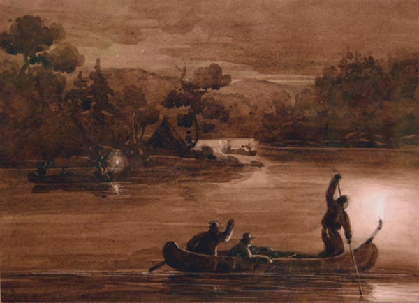 Anonyme  - Pêche de nuit (c. 1860)