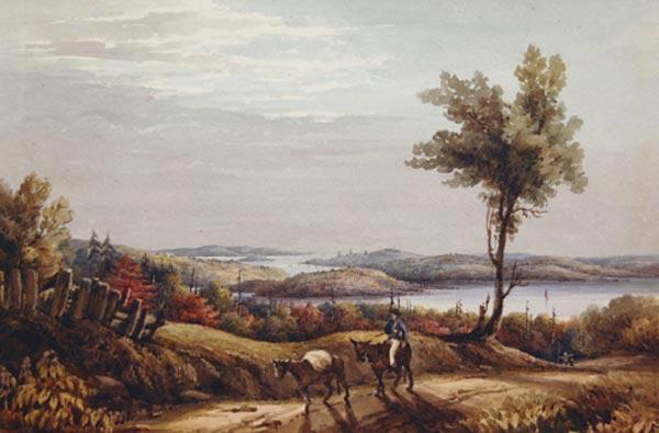 Anonyme  - Québec au loin (c. 1835)