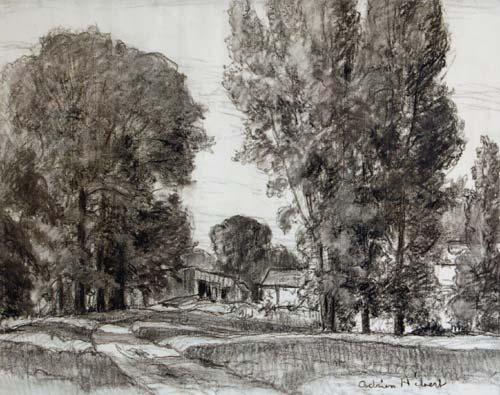 L'Enclos (c.1921) - Adrien Hébert