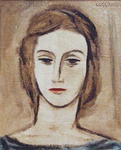 Stanley COSGROVE - Tête de femme (1950)