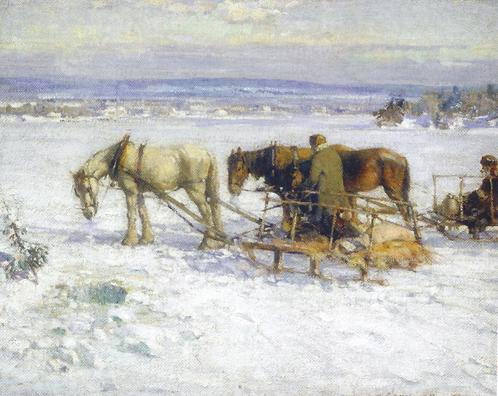 Franklin BROWNELL - Pêche sur glace, collines de Gatineau (1915)