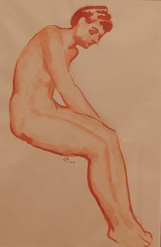 Edwin HOLGATE - Nu assis (1944)