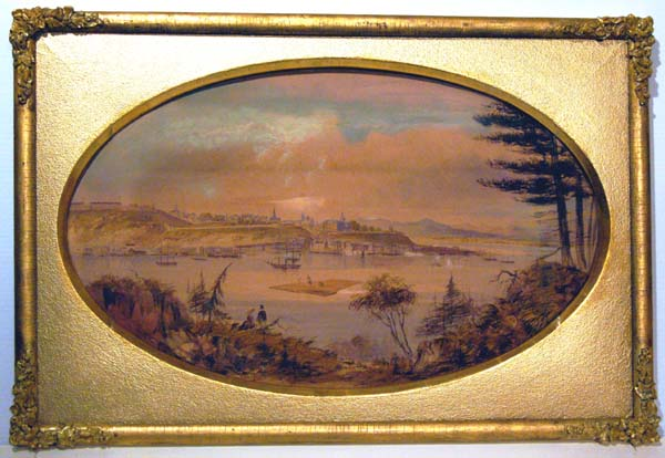 Washington FRIEND - Vue de Qu�bec depuis la rive sud du St-Laurent (c. 1850)