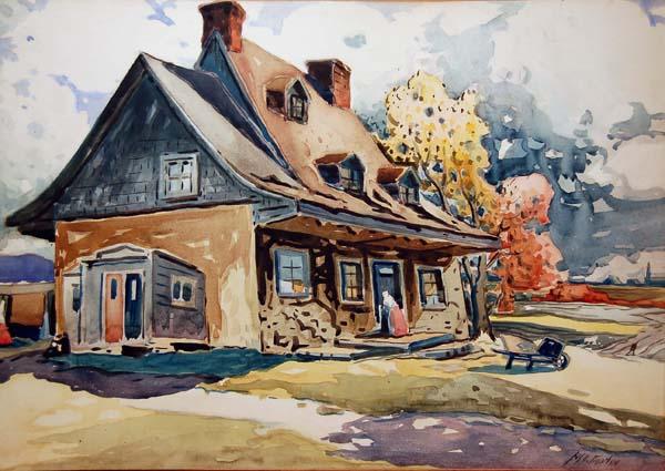 Vieille maison à Longue-Pointe (1928) - Marc-Aurèle Fortin