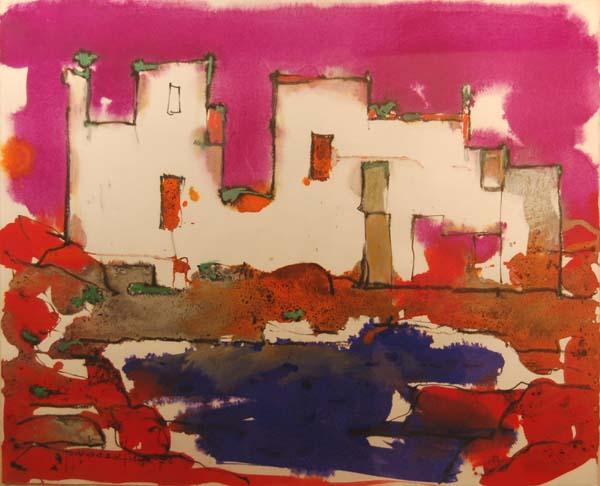 Paul-Vanier BEAULIEU - Paysage de Provence (1970)
