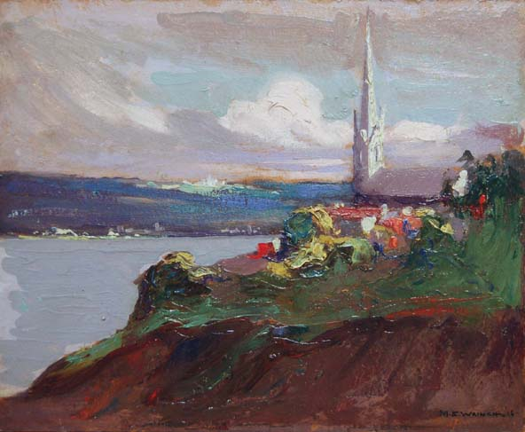 Sillery Steeple, Quebec - 1916 - - Mary Evelyn Wrinch