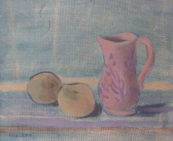 Stanley COSGROVE - Sans titre (nature morte en bleu) c.1958