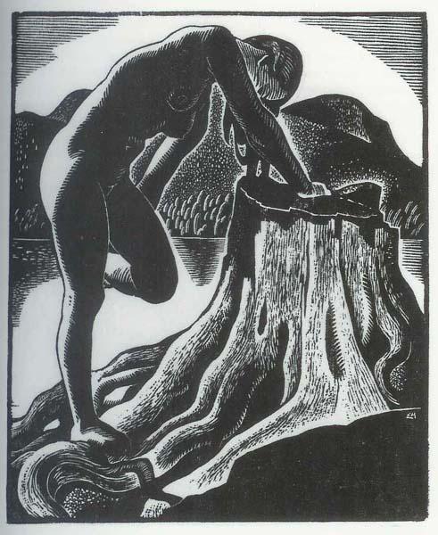 Edwin HOLGATE - Nu au bord d'un lac (1932)